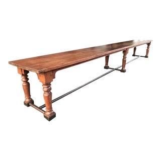 19th Century Fir Dining Table