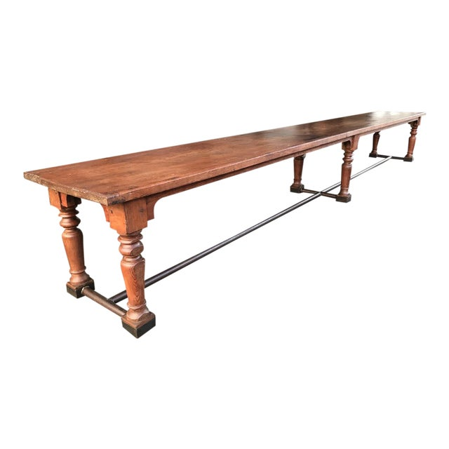 19th Century Fir Dining Table - Image 1 of 6