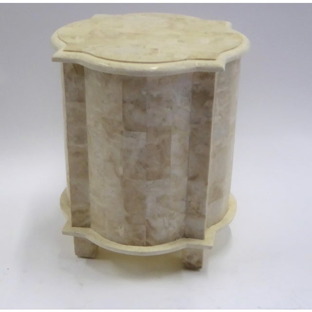 1970s Tesselated Fossil Stone Nightstand End Table from Marquis Collection of Beverly Hills For Sale - Image 5 of 11