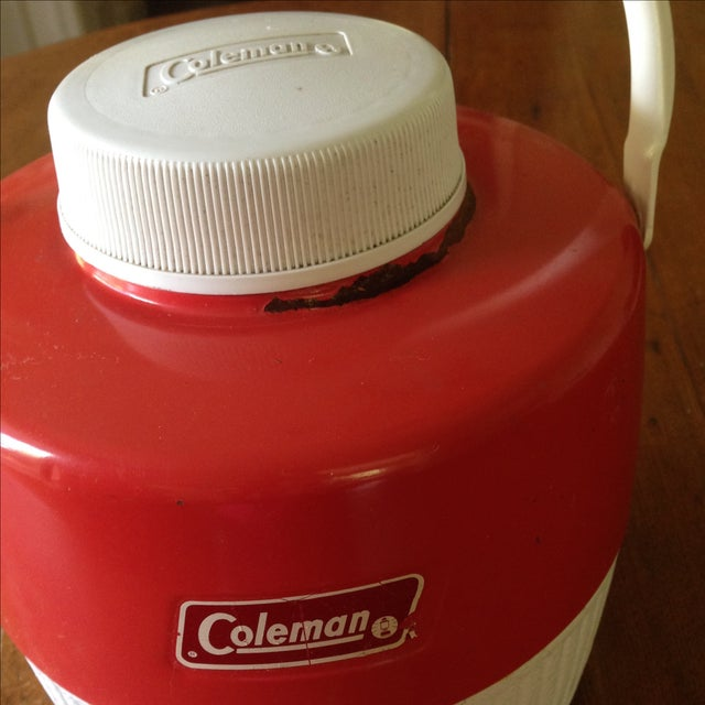Vintage Red Metal & Plastic Coleman Cooler - Image 8 of 11