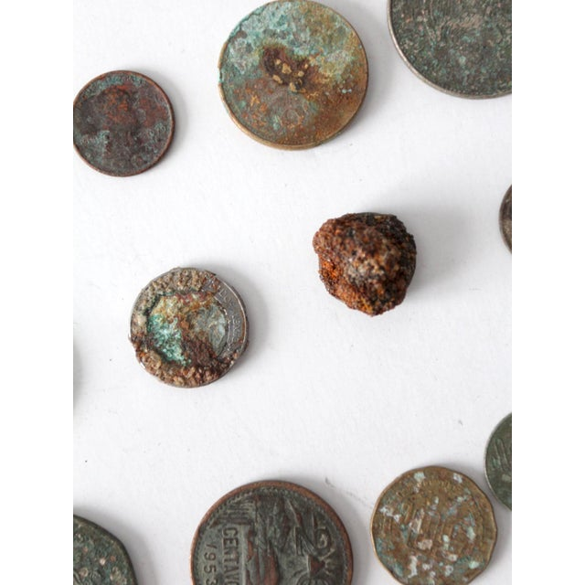 Early 20th Century Vintage Oxidized Coin Collection For Sale - Image 5 of 11