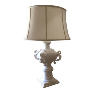 Currey and Co. White Plaster Lamp
