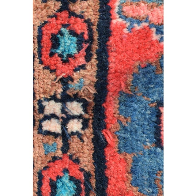 Blue Vintage Mid-Century Hand-Knotted Persian Rug - 4′8″ × 9′11″ For Sale - Image 8 of 13