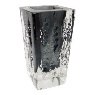 Square German Modernist Crystal Vase For Sale