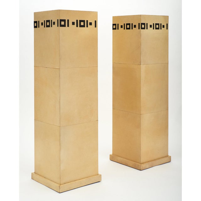 Art Deco Pair of French Art Deco Pedestals For Sale - Image 3 of 11