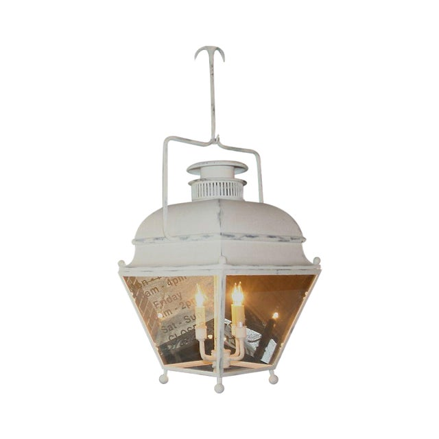 Large White Colonial Lantern - Image 1 of 7