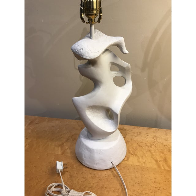 1950s Plaster Abstract Feminine Figure Lamp For Sale - Image 5 of 8