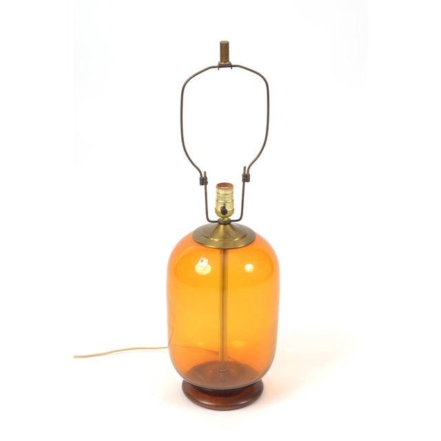 Blenko Blenko Blown Glass Lamp Designed by Don Shepherd For Sale - Image 4 of 10