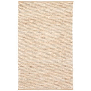 Jaipur Living Diagonal Weave Natural Beige/ White Area Rug - 9′ × 12′ For Sale