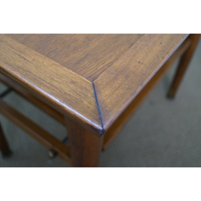 Mid-Century Walnut Side Tables - A Pair - Image 9 of 9