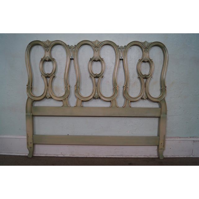 Vintage French Louis XV Style Queen Size Headboard - Image 2 of 10