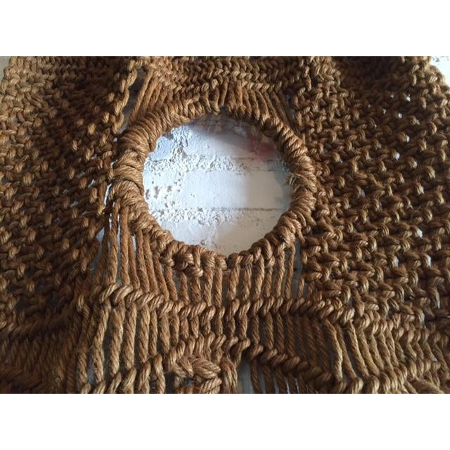 Vintage Large Weave Woven Art Wall Hanging - Image 5 of 8