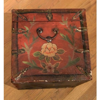 1960s Vintage Chinese Hand-Painted Wooden Storage Box Preview