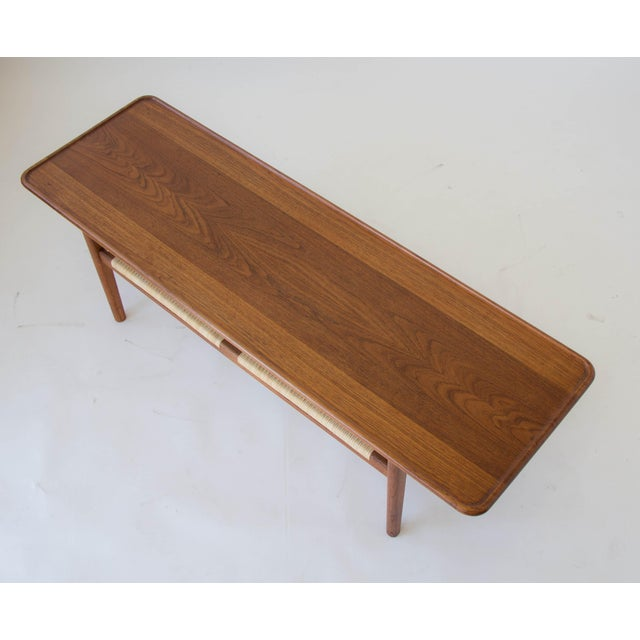 Hans Wegner AT-10 Coffee Table with Cane Shelf - Image 3 of 8