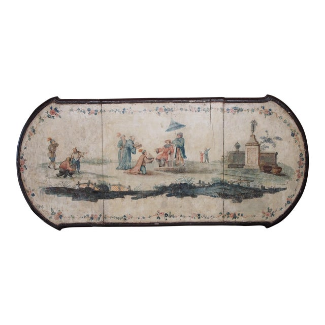 18th Century Italian Chinoiserie Architectural Panel For Sale