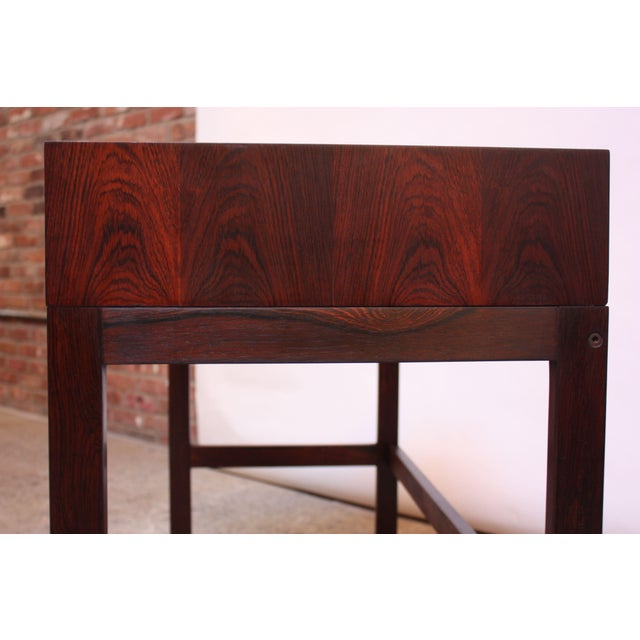 Diminutive Danish Modern Rosewood Desk by EJM Skive For Sale In New York - Image 6 of 12