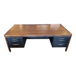 Custom Vintage Jens Risom Executive Desk For Sale