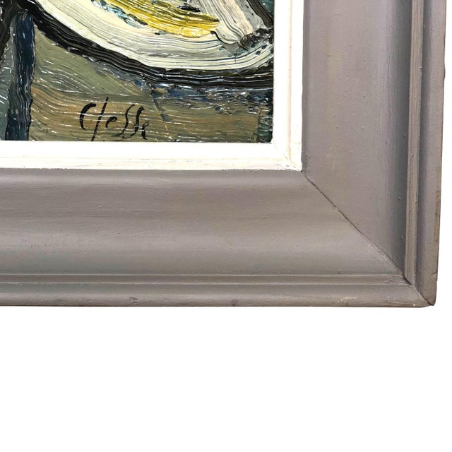 Abstract 20th Century Round Abstract Forms Painting by Daniel Clesse For Sale - Image 3 of 5