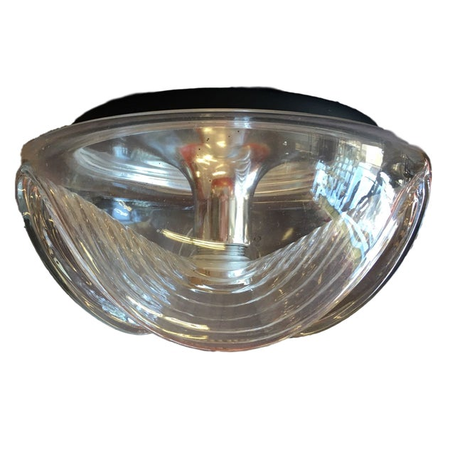 Peill & Putzler Clear Glass & Chrome Wave Ceiling Light - Image 6 of 6