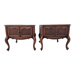1950s French Provincial Lane Side Tables - a Pair For Sale