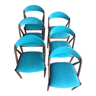 Vintage Mid Century Kai Kristiansen Model 31 Dining Chairs — Set of 6 For Sale