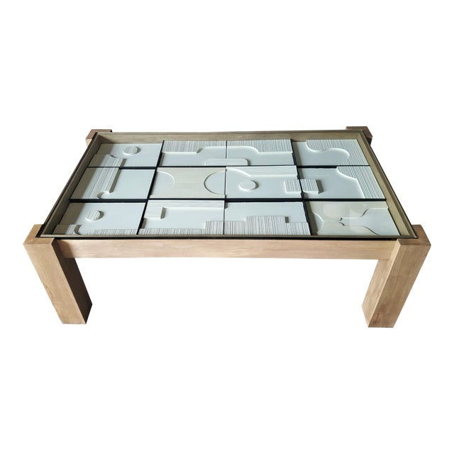 Modernist Frieze Cocktail Table by Paul Marra For Sale