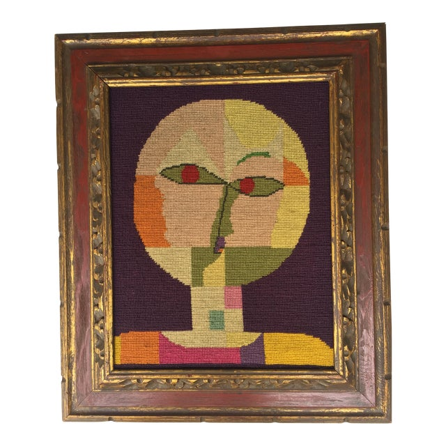Vintage Paul Klee Style Modernist Needlepoint - Image 1 of 6