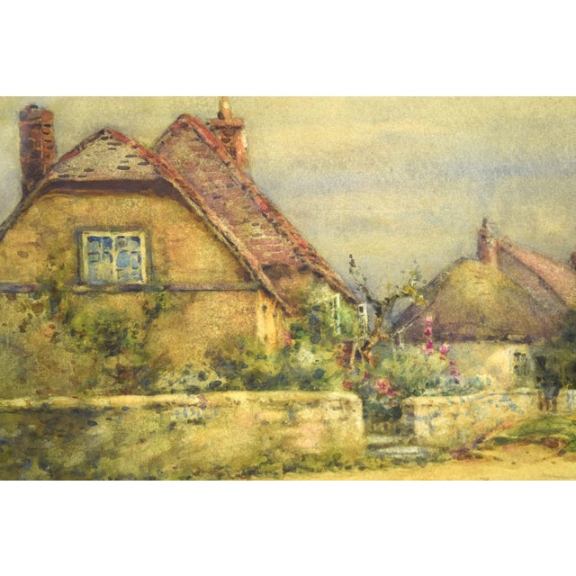 Early 20th Century Antique Alexander MacBride British Village Watercolor Painting For Sale In Chicago - Image 6 of 10