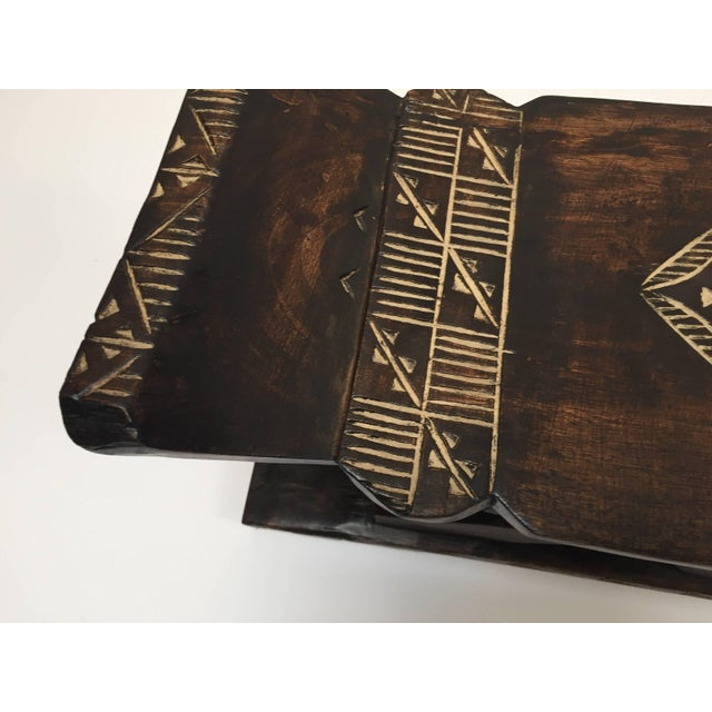 Vintage Mid Century African Tribal Wooden Stool From Ghana For Sale In Los Angeles - Image 6 of 9