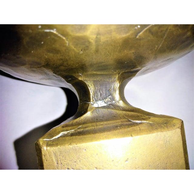 Weiland Basel Switzerland Brutalist Brass Candle Holders - a Pair- Mid Century Scandinavian Modern Candlesticks Millennial - Image 11 of 11