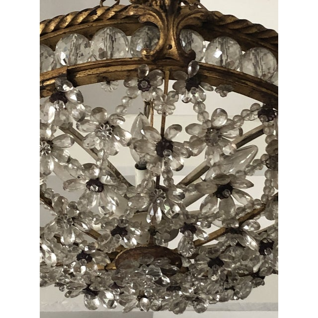 Antique Bronze & Crystal French Chandelier Pendant For Sale In Philadelphia - Image 6 of 13