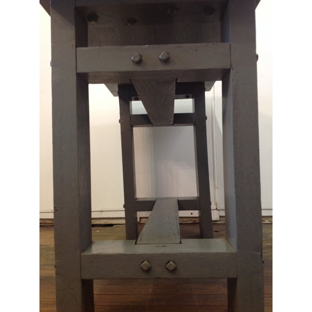 Primitive Industrial Gray Potting Table - Image 8 of 10