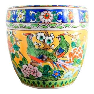 Colorful Vintage Ceramic Planter For Sale