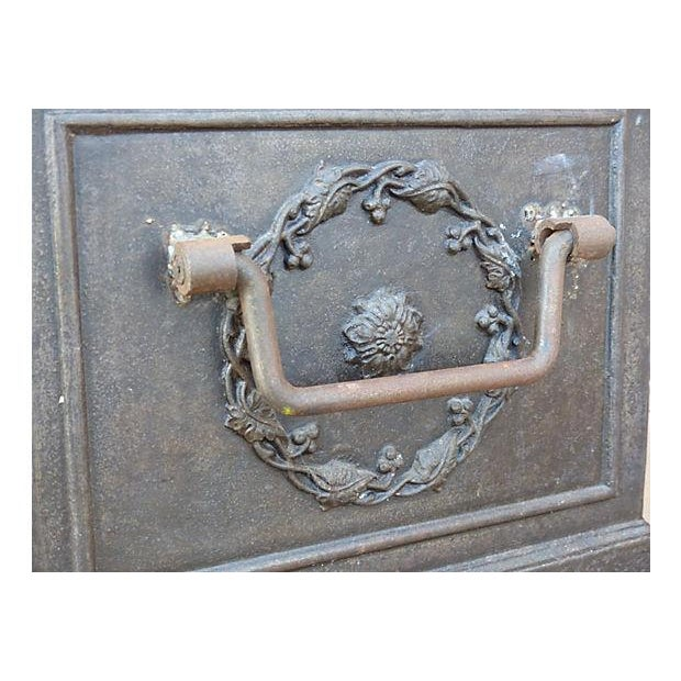 Traditional Antique Iron Safe For Sale - Image 3 of 10