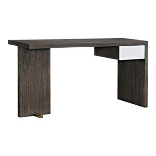 Caracole Modern Dark Walnut Finished Wood Writing Desk For Sale