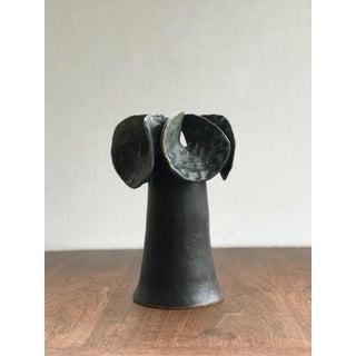 Modernist Black Ikebana Flower Ceramic Vase Preview