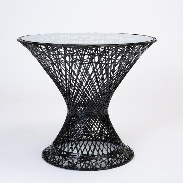 Mid-Century Modern Spun Fiberglass Patio Bistro Table by Woodard Furniture For Sale - Image 3 of 7