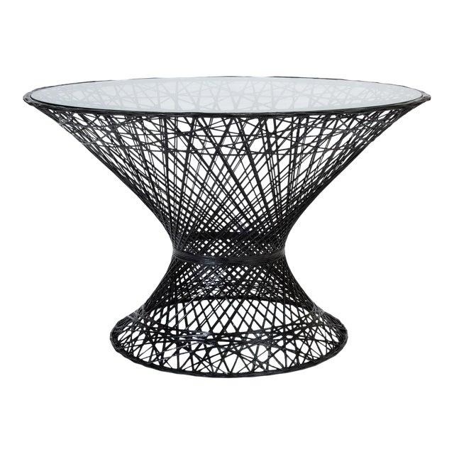 Spun Fiberglass Patio Dining Table by Woodard Furniture For Sale