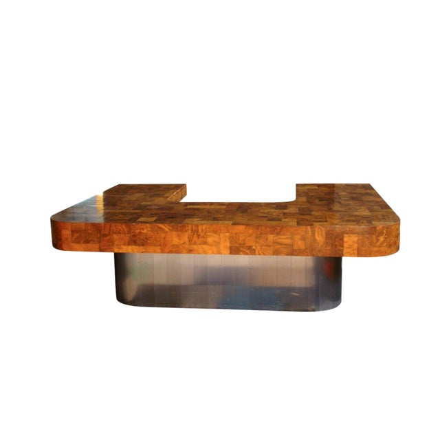 "1970s Mid-Century Modern Paul Evans ""Cityscape"" Executive Desk For Sale"