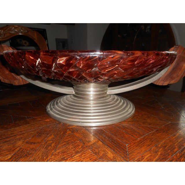 Art Deco French Art Deco Glass Bowl For Sale - Image 3 of 7
