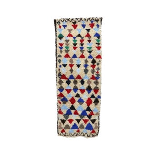 1980s Vintage Azilal Moroccan Rug - 2′8″ × 7′2″ For Sale