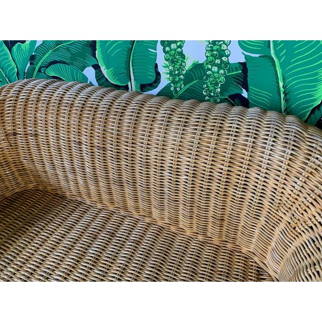1970s Sculptural Wicker Sofa in the Manner of Michael Taylor For Sale - Image 5 of 11