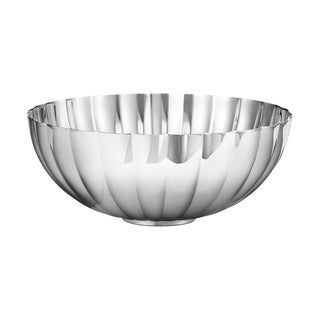 Georg Jensen Art Deco Stainless Steel Bernadotte Bowl, Medium For Sale