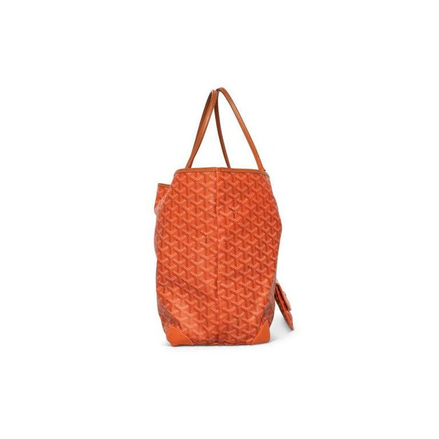 Contemporary Goyard Orange St Louis Gm Chevron Tote Bag For Sale - Image 3 of 10