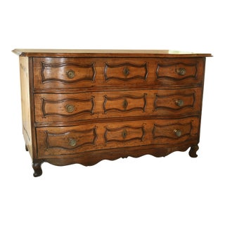 1800's Antique French Provincial Walnut Commode For Sale