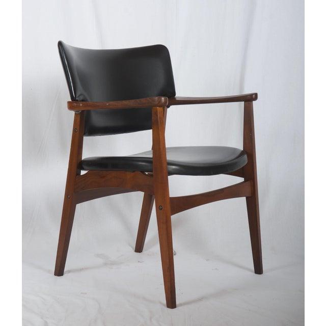 Black Scandinavian Armchair Attributed to Erik Kirkegaard For Sale - Image 8 of 8