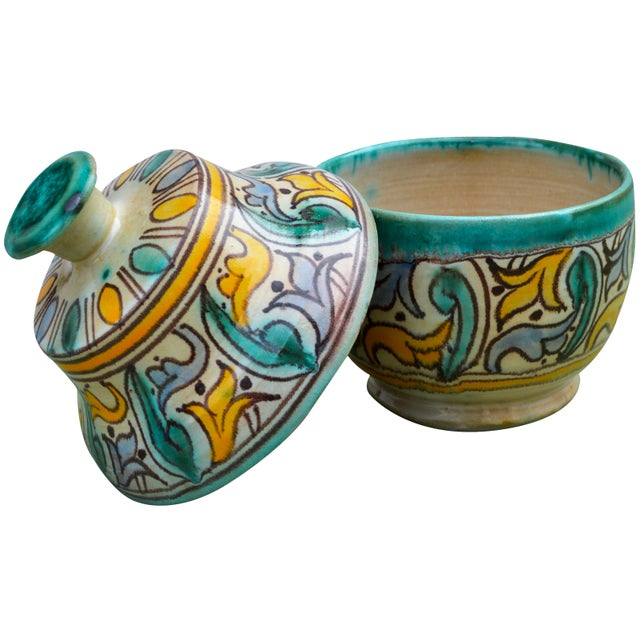 Early 20th Century Antique Moorish Ceramic Box For Sale - Image 5 of 11