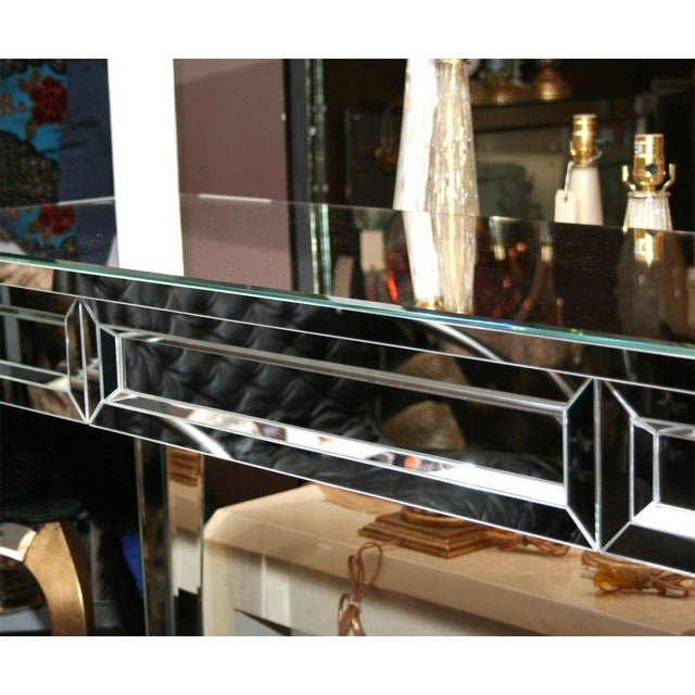 2000 - 2009 Custom Mirrored Console Table For Sale - Image 5 of 8