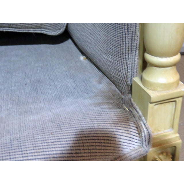 Directoire Style Upholstered Bergeres - a Pair For Sale - Image 10 of 12