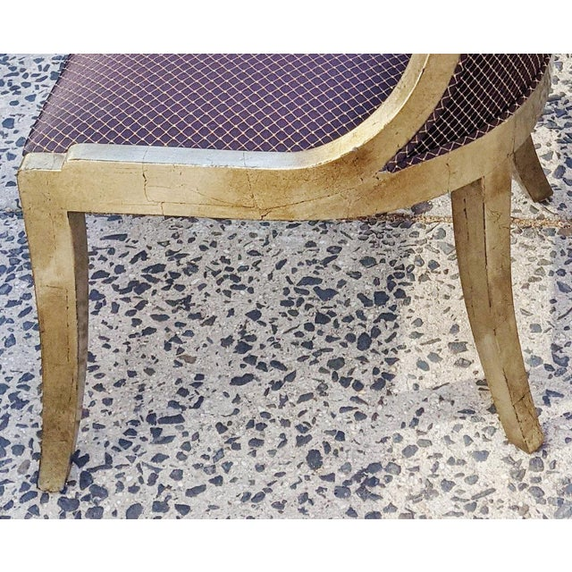 """Gold Vintage 20th Century French """"Donghia"""" Style Gilt Chairs - Set of 4 For Sale - Image 8 of 10"""